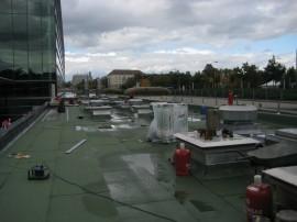 Sanierung Trafostation 2-lagig mit Bitumenbahnen und Dachbegrünung (ca.600 m²)