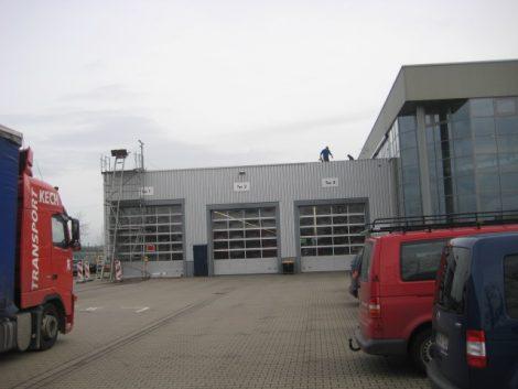 Objekt Logistikzentrum Sanierung Flachdach mit Dampfsperre, Steinwolldämmung und Kunststoffbahn